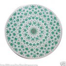 "36"" Marble Round Dining Malachite Table Top Marquetry Pietra Dura Handmade Gifts"