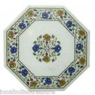 "12"" Marble Cofffee Table Top Side Inlaid Floral Pietra Dura Handmade Home Decor"