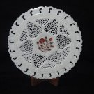 "8"" Marble Plate Rare Hakik Very Fine Grill Work Inlaid Floral handmade Decor Art"