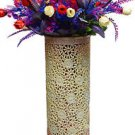 "18"" Marble Soapstone Flower Vase Handmade Pot Beautiful Elephant Home Decor Art"