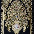 2'x3' Kashmir Zardozi Jewel Carpet Rug Handmade Traditional Decor Wall Hanging