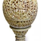 """8.5"""" Marble Beautiful Aroma Tea Light Candle Holder Carved Home Decor At Night"""