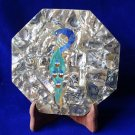 """7"""" Marble Plate Peacock Art Paua Shell Mother Of Pearl Pietra Dura Home Gifts"""