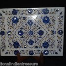 Marble Serving Tray Plate Lapis Lazuli Handmade Pietra Dura Home decor Mosaic