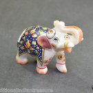 """2"""" Marble Elephant Color Hand Painted Handmade Home Decorative Gifts Arts"""
