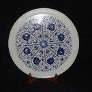 "13"" Marble Plate Lapis Lazuli Handmade Marquetry Pietra Dura Art Beautiful Gifts"