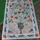 """12""""x18"""" Marble Big Trays Tray Serving Dishes Peacocks Parrots Pietra Dura Inlaid"""