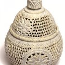 "5""x5""x6"" Marble Jewelry Box Jar Trinket Decor Flower Collectible Handmade Gifts"