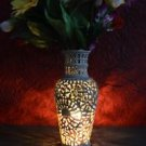 "10"" Marble Hand Carved Vase Flower Pot Design Collectible Home Decor Art"