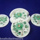 Marble Coaster Set Handmade Malachite Inlaid Peitra Dura Home Decorative Gifts