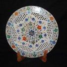 "12"" Marble Plate Paua Shell Pietra Dura Lapis Lazuli Grill Work Home Decor Gifts"