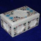 Marble Turquoise Malachite Mosaic Trinket Jewelry Box Handmade Homde Decor Gifts