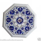 """Size 12""""x12"""" Marble Side Coffee Table Top Rare Lapis Stone Mosaic Home Deco H006"""