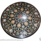 Size 2'X2' Marble Side Coffee Table Top Rare Inlay Marquetry Art Home Decor H910