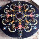 """36"""" Black Marble Coffee Table Top Dining Coffee Mosaic Handmade Decor Gifts New"""