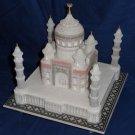 "9""x9"" White Marble Taj Mahal Collectible Replica Handicraft Home Decor Gifts"