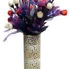 "10"" Marble Soapstone Flower Vase Elephant Pot Beautiful Carved Home Decor Art"