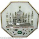 "12"" Marble Cofffee Table Top Inlaid TAJ MAHAL Pietra Dura Handmade Home Decor"