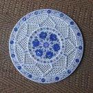 "18"" Marble Plate Mosaic Lapis Lazuli Marquetry Pietra Dura Handmade Fine Decor"
