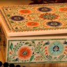 "6""x4""x2"" Marble Storage Jewelry Box Malachite Floral Art Collectible Gifts Hakik"
