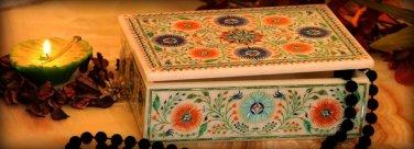 "6""x4""x2"" Marble Storage Jewelry Box Malachite Floral Art Collectible Gifts Hakik"