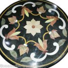 Size 2'X2' Marble Center Coffee Table Top Rare Marquetry Floral Home Decor H922