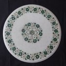 """21"""" Marble Table Top Malachite Pietra Dura Centre Table Top Home Decor Gifts"""