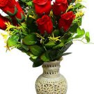 "8"" Marble Soapstone Flower Vase Pot Beautiful Antique Home Decor Design Art"