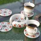 Marble Coaster Set Handicraft Hakik Inlay Work Malachite Mosaic Collectible Art