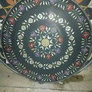 "30"" Mosaic Black Marble Rare Coffee Dining Table Top Floral Paua Shell Decor Art"