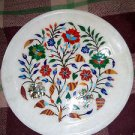 "12"" Marble Decorative Plate Art Floral High Quality Pietra Dura Home Decor Gifts"