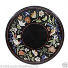 """24"""" Black Table Top Coffee Birds Mosaic Handmade Marquetry Home Decorative Gifts"""