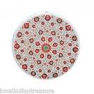 "20"" Marble Coffee Cardelian Paua Shell Table Top Marquetry Mosaic Home Decor Art"