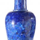 "18"" Marble Soapstone Flower Vase Handmade Pot Beautiful Lapis Lazuli Home Décor"