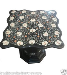 Size 4'x4' Marble Dining Table Top With Stand Inlay Stone Mosaic Home Deco H906A