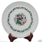 """9"""" Marble Serving Tray Plate Lapis Stone Marquetry Pietra Dura Kitichen Gifts"""
