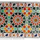 2.5'x6' Marble Dining Table Top Handmade Natural Stones Marquetry Pietra Dura