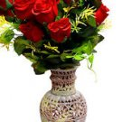 "10"" Marble Soapstone Flower Vase Pot Beautiful Elephant Home Decor Design Art"