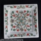 """6"""" Marble Exclusive Tray Turquoise Handmade Pietra Dura Kitchen Home Decor Gifts"""