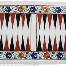 """Size 12""""x18"""" Marble Coffee Table Top Inlay Pietra Dura Backgammon Board Game"""