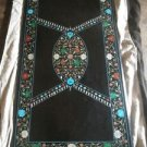 4'x2' Black Marble Malachite Coffee Marquetry Dining Table Top Home Decor Gifts