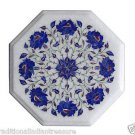 """Size 12""""x12"""" Marble End Coffee Table Top Semi Lapis Stone Mosaic Home Decor H008"""