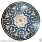 "Size 30""x30"" Marble Coffee Table Top Rare Inlay Pietradure Gems Home Decor"