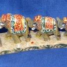 Marble Set of Two Elephant line Handmade Figurine painted Home Decor Gifts Art