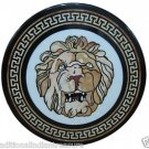 "30"" Marble Coffee Table Top Rare Gemstone Lion Face Mosaic Arts Handicraft Decor"