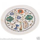 """6"""" Decorative Marble Plate Pietra Dura Marquetry Inaid Mosaic Home Decor Gifts"""