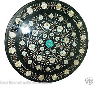 Size 3'X3' Marble Dining Table Top Inlay Abalone Stone Floral Home Decor H926B