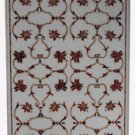 Marble Inlaid Pietra Dura Rare Table Top Carnelian Marquetry Handmade Decor
