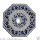 """Size 18""""x18"""" Marble Side Coffee Table Top Lapis Marquetry Mosaic Home Decor H010"""