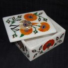 Pietra Dura Marble Jewelry Box Trinket Jasper handmade Home Decor Paua Shell Art